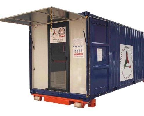 container su misura protezione civile esterno aperto