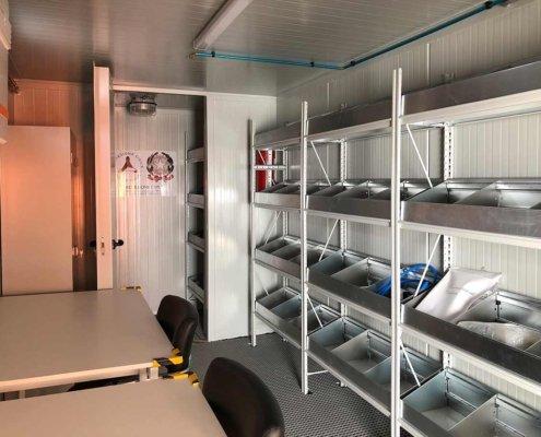 container su misura protezione civile interno
