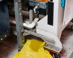 cuscino assorbente per liquidi chimici pericolosi