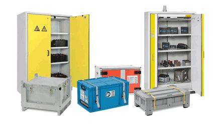 contenitori per le batterie al litio