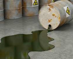 sversamento consistente liquido inquinante