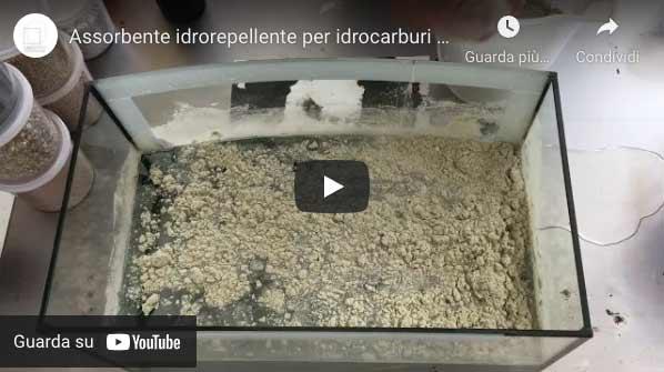 video assorbente idrorepellente in polvere per idrocarburi oko sorb