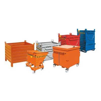 contenitori in acciaio per materiali solidi