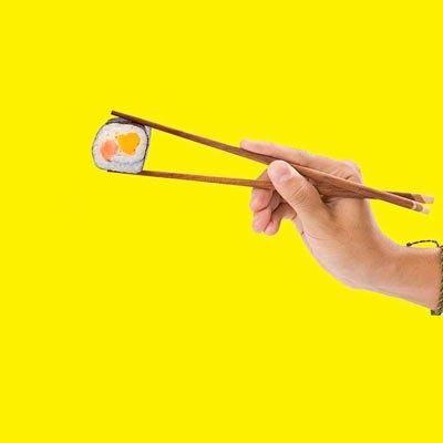 raccolta differenziata bacchette sushi