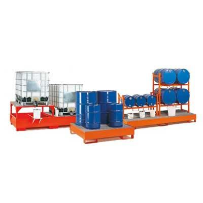 sistemi con vasca di raccolta in metallo per interni