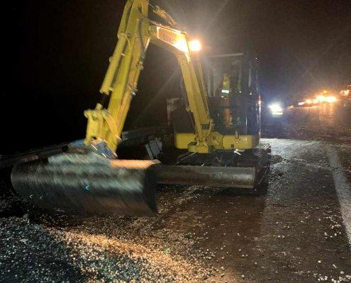 bonifica incidente stradale camion cipolle lavori