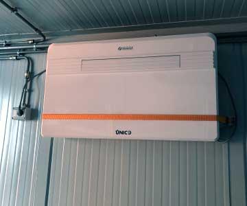 deposito container impianto climatizzazione