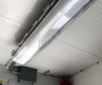 deposito container impianto illuminazione