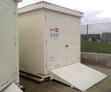 deposito container pedana di accesso