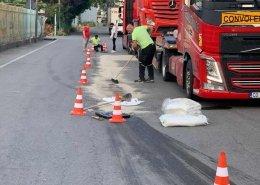 pulizia strada da sversamento idrocarburi
